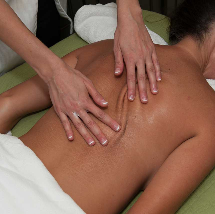 Relaxing back massage service at Purely You Spa   Naples Florida Certified Organic Day Spa