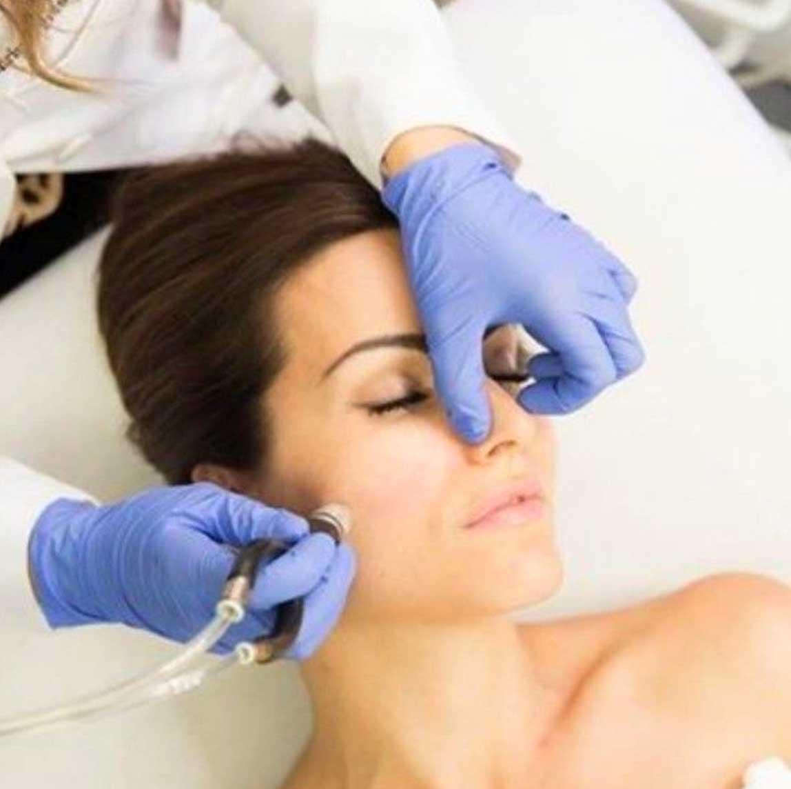 Diamond Glow Facial treatment in progess   Purely You Spa Diamond Glow Facial Spa Membership