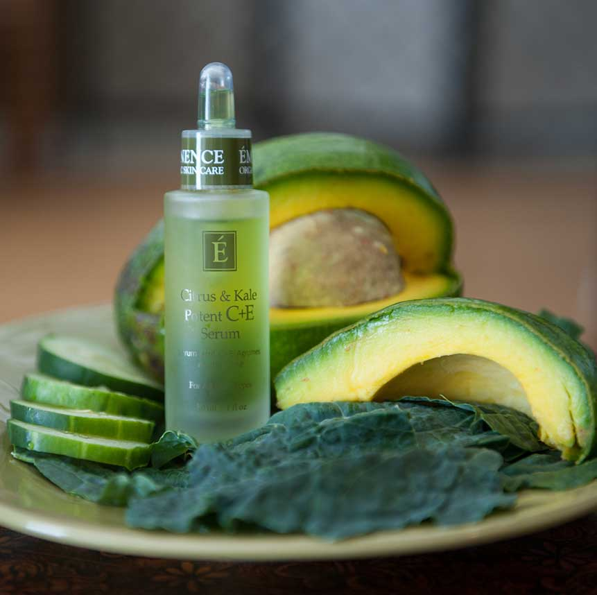 Eminence Citrus and Kale Potent C+E Serum product available at Purely You Spa | Naples Florida Certified Organic Day Spa