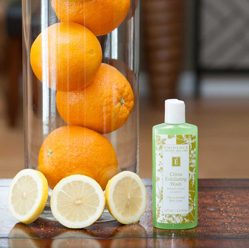 Eminence Citrus Exfoliating Wash product available at Purely You Spa | Naples Florida Certified Organic Day Spa