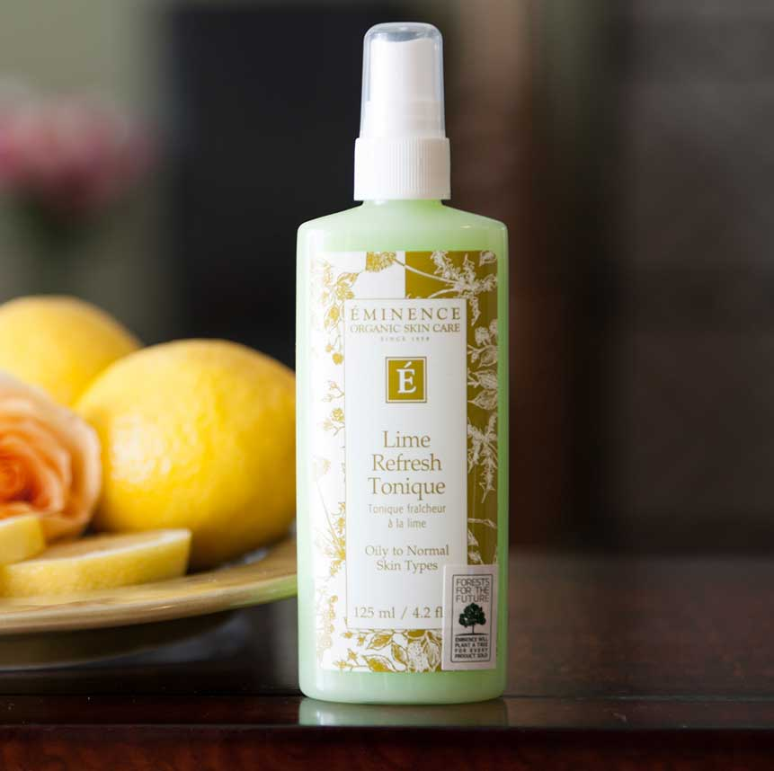 Eminence Lime Refresh Tonique product available at Purely You Spa   Naples Florida Certified Organic Day Spa