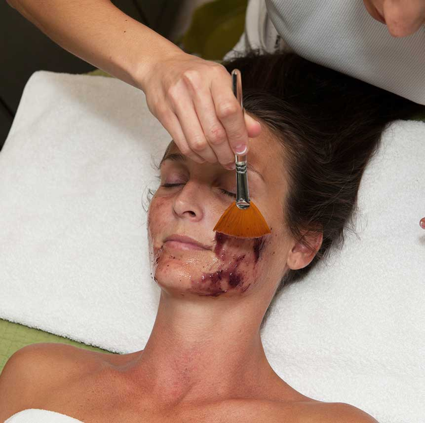 Facial spa service at Purely You Spa   Naples Florida Certified Organic Day Spa