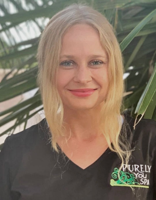 Natalie, Licensed Massage Therapist at Purely You Spa in Naples, Florida | Certified Organic Day Spa