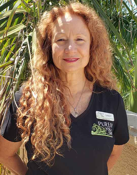 Sandy, Licensed Massage Therapist at Purely You Spa in Naples, Florida | Certified Organic Day Spa