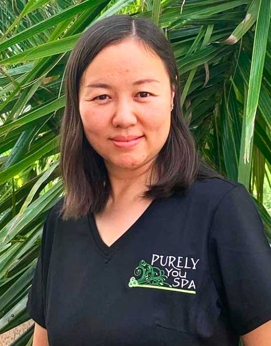 Tian, Dually Licensed Massage Therapist and Skin Esthetician at Purely You Spa in Naples, Florida | Certified Organic Day Spa
